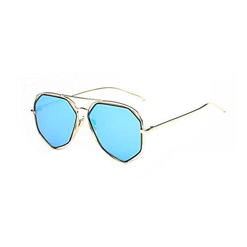 Black Temptation Neue Art und Weise Anti-UVA Anti-UVB Katzenauge gespiegelte Metallrahmen-Sonnenbrille