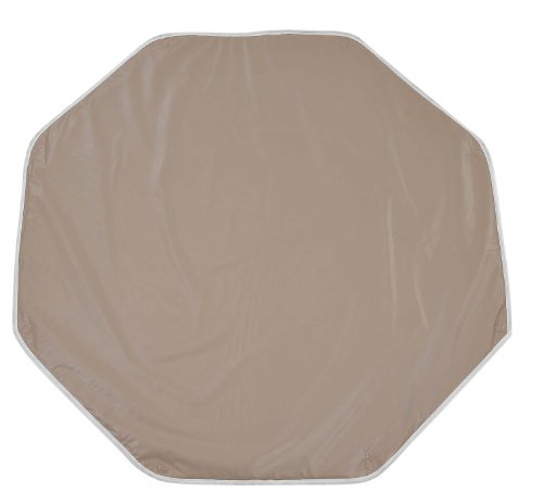 Looping Tapis de parc octogonal en PVC avec œillets de fixation - Dimension : 108 x 108 cm Taupe
