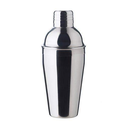 Professioneller Edelstahl Cocktail Shaker mit Filter, Mattgrau, Durchmesser 16X7.5Cm