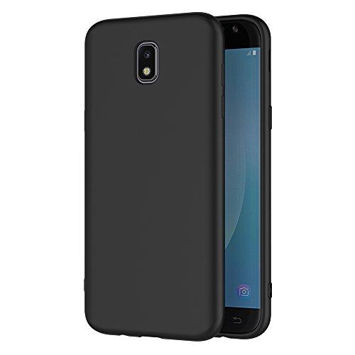 AICEK Cover per Samsung Galaxy J7 2017, Cover Samsung J7 2017 Nero Silicone Case Molle di TPU Sottile Custodia per Galaxy J7 2017 (5,5 Pollici SM-J730F)
