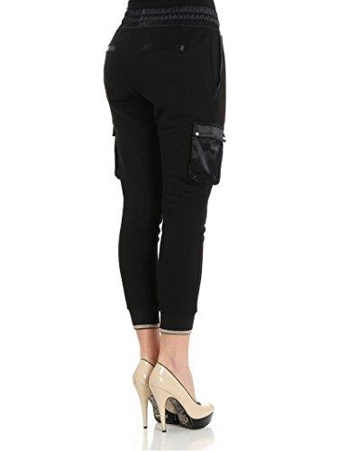 PATRIZIA PEPE-Pantalone in Misto Cotone 8J0685 Black