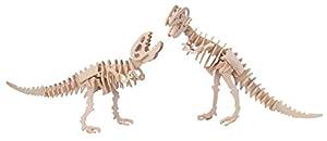 Eureka-Gepetto 52473177 Tyrannosaurus - Puzzle en 3D (2 en 1, Madera)