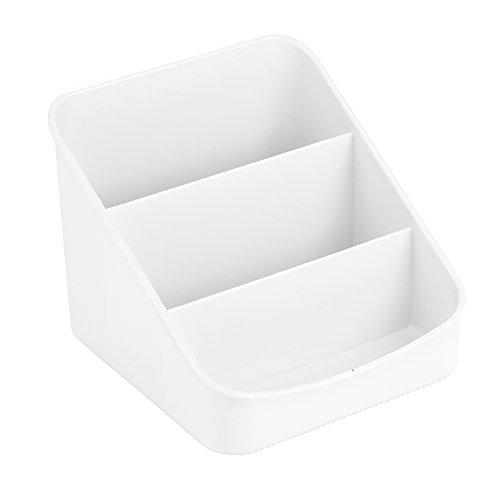 n Organizer, Aufbewahrungsbox aus Kunststoff mit drei Fächern für Verpackungen und Gewürze, weiß ()