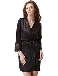 Déshabillé Nuisette Sortie de Chambre Robe de de Bain Femme Satin Peignoir Vêtements Femme Nuit Kimono xzv1Yq