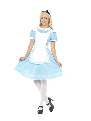 Smiffys Damen Wunder Prinzessinnen Kostüm, Kleid, Schürze und Haarband, Größe: 40-42, - Alice Kostüm