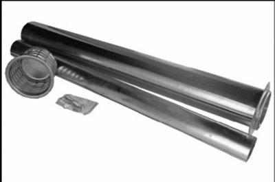 Abgasrohrset Außenwandheizgerät Erdgas oder Propan Wandstärken bis 700 mm (Propan Kamin Heizung)