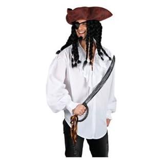White Pirate Shirt - Adult Accessory Men : MEDIUM