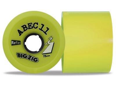 ABEC 11 Reflex ZigZags Lemon 83A 75mm Longboard Rollen Set (4 Rollen) - Longboard Wheels -