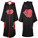 Sunkee Japanischen Anime Cosplay Naruto Akatsuki Ninja Uniform / Kapuzenmantel, Größe XL: Höhe 177cm-184cm