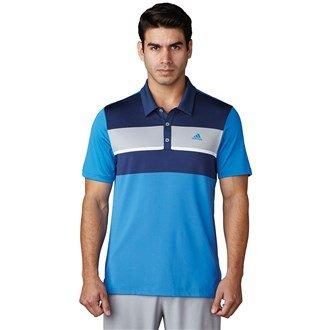 Adidas Climacool Chest Block maglietta Polo a maniche corte da Golf, Uomo, UOMO, Climacool Chest Block, blu, S
