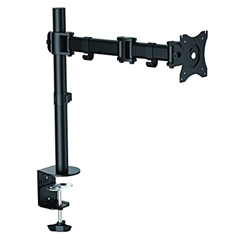 SAVONGA® Monitor holder #204L, display stand, desk mount for screen, with swivel arms, rotatably pivotally tiltable rotatable, for TFT 3D ULED ULED LED LCD PLASMA monitors, screens, displays, support 10