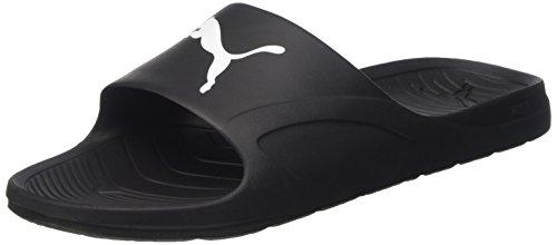 Puma Divecat, Unisex-Erwachsene Dusch- & Badeschuhe, Schwarz (black-white 02), 44.5 EU (10 Erwachsene UK)