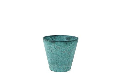 Artstone Pflanzgefäß, Pflanzkübel Claire, frostbeständig und leichtgewichtig, azure, 17x17x15 cm, 136234