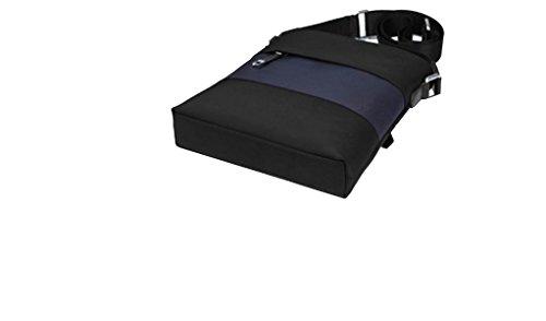 Yy.f Männer Verrückt Pferd Ledertasche Segeltuchschulterbeutel Mannbeutel Business-Taschen Freizeittaschen Laptop-Kuriertasche Aktenkoffer Black