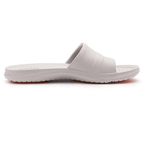 KENROLL Dusch Badeschuhe Sommerurlaub Damen Hausschuhe Zehentrenner Strandschuhe Flip Flops Grau