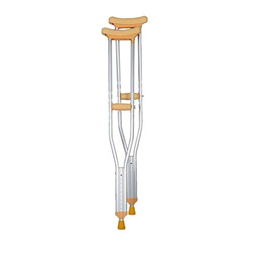 Soles Walking Crutches - Paar - Justierbares, faltbares Aluminium - Männer oder Frauen - Leicht, bequem u. Haltbar - Krücken Faltbare