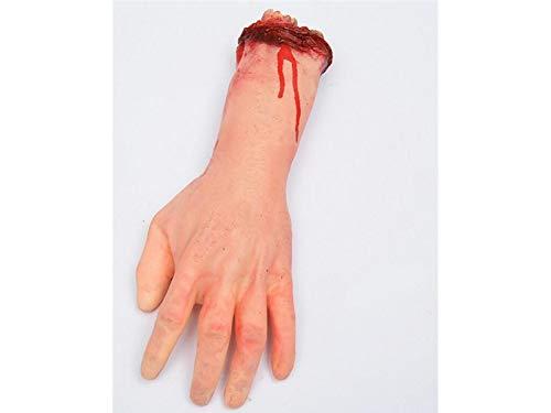 (Blueqier Halloween Simulation Hand Requisiten Körperteil Orgel Horror Bloody Zombie Streich Spielzeug Dekorationen für Halloween (Hautfarbe) glücklich)