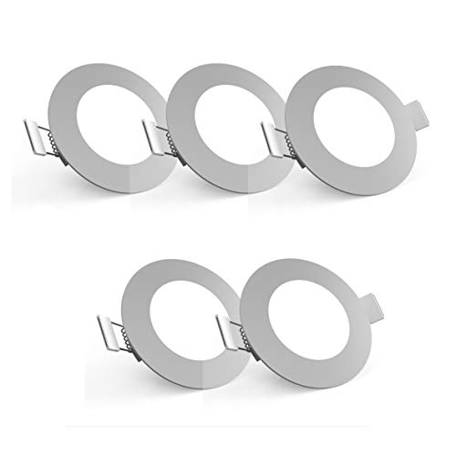 LED Einbauleuchte Ultra Flach Ø85mm Inkl. 5 X 5W 450LM LED Platine 3000K IP23 LED Einbaustrahler titan