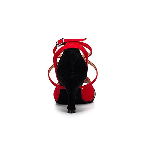 Miyoopark , Salle de bal femme Red/Black-7.5cm Heel