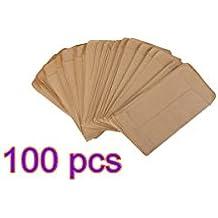Buweiser Bolsa de papel Kraft, bolsa de semillas de remojo, bolsa de papel kraft, papel kraft de uso híbrido (100pcs)