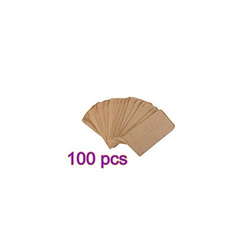 Birty Kraftpapier Seed Bag Kleine Vintage Cafe Party Braunes Papier Aufbewahrungstasche * 6x10cm; 100 PCS