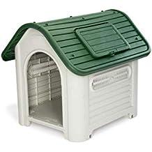GARDIUN Caseta de Perro Dakota Resina Beige/Verde 72x87x75 cm - KZT1007