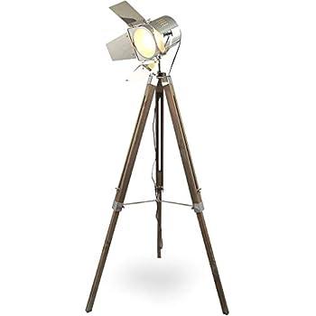 Cult Living Spotlight Tripod Stehlampe, Natürliches und