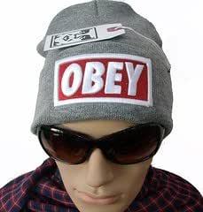 OBEY BOX LOGO bonnet gris