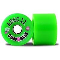 ABEC 11 ruote Longboard serie 78A Gumballs 76 millimetri (4 rotoli) - Ruote longboard skate - Longboard Rotolo