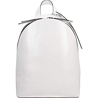 31jzg8pNizL. SS324  - Mochilas Mujer, Color Blanco, Marca CALVIN KLEIN, Modelo Mochilas Mujer CALVIN KLEIN Edged Backpack Blanco