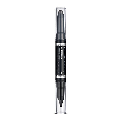 MANHATTAN Eyemazing Double Effect Eyeshadow & Liner, 2in1 Lidschatten & Eyeliner, wisch- und wasserfest, Schwarz Grau, Farbe 001, In The Black, 1er Pack (1 x 2 g)