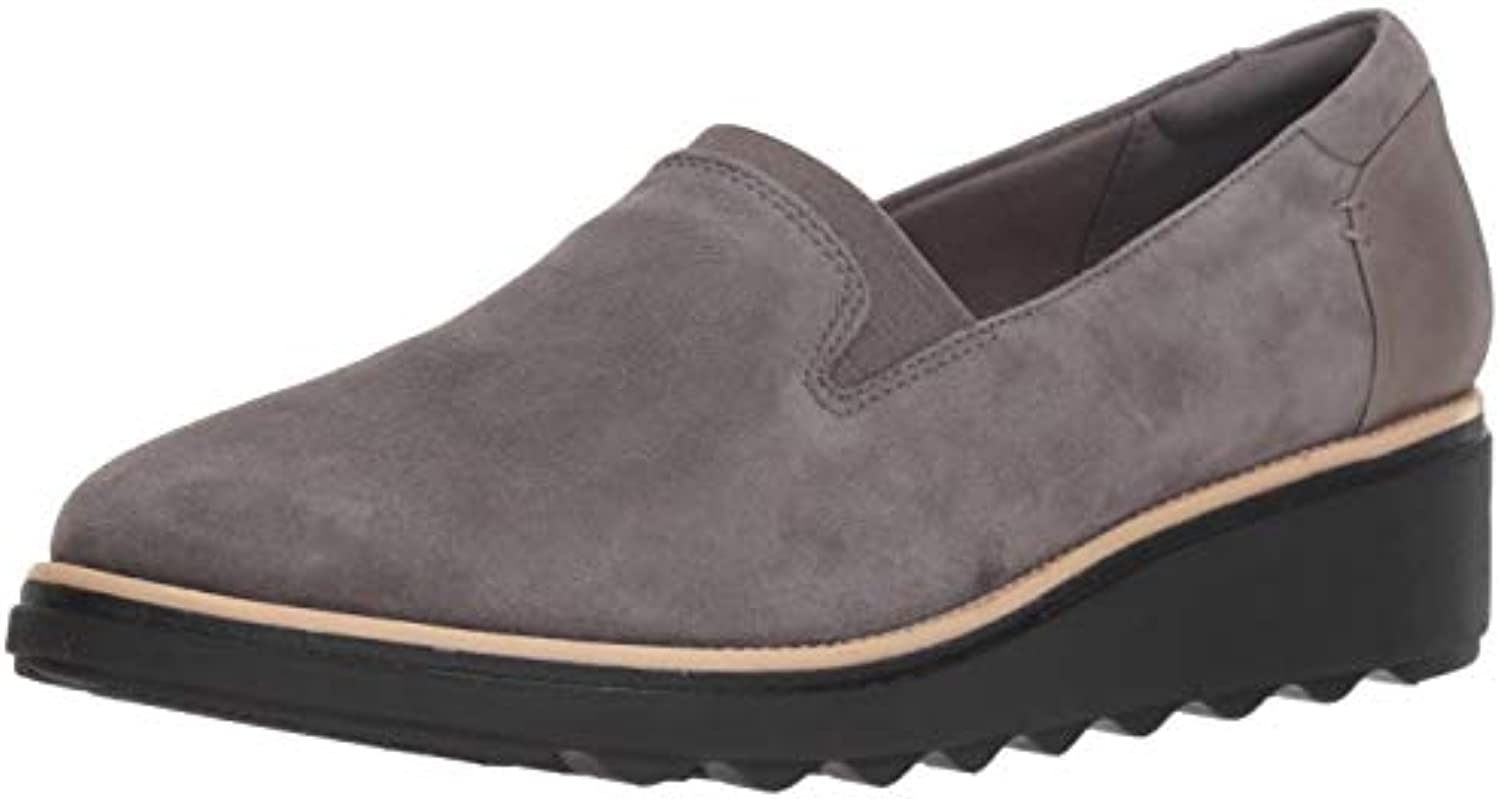 Clarks Wouomo Sharon Dolly Loafer, Loafer, Loafer, grigio Suede, 065 W US | Sale Online  267377