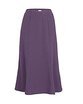 Eastex Womens Ladies Textured Jersey Skirt Panelled Stretch Waistband Polyester