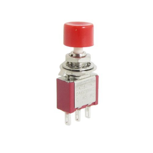 2 Stück AC 250V 2A 120V 5A SPDT NO NC Momentary Push Button Switch -