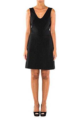 Nuova collezione Abiti Donna MICHAEL KORS pre smanicato, ampio scollo a V, chiusura con zip posteriore, tinta unita, interno foderato Black