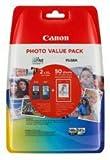 Canon Lot de 2 cartouches d'encre Canon PG-540XL noir et CL-541XL couleur pour imprimante Canon Pixma MG375