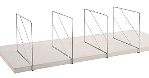 'Organize It All' Chrome Closet Shelf Dividers (Set of 2) by Organize It All