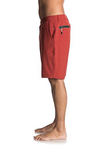 "Quiksilver Waterman Vagabond Amphibian 20"" - Short pour Homme EQMWS03011 Rouge - Red Ochre"