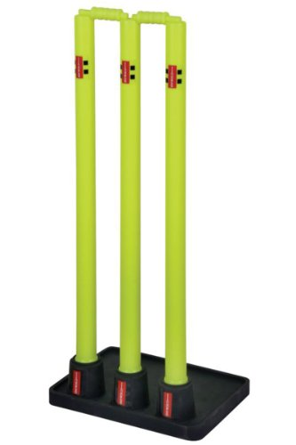 Gray Nicolls Outdoor Team Sports Official Solid Rubber Base Cricket Stumps by Gray-Nicolls