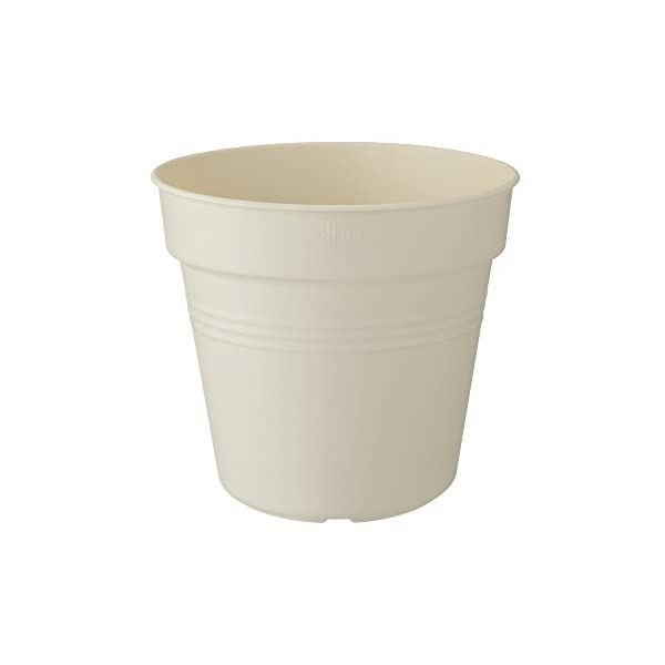 Elho Green Basics Growpot 13 – Growpot – Cotton White – Interior & Exterior – Ø 13 x A 12 cm