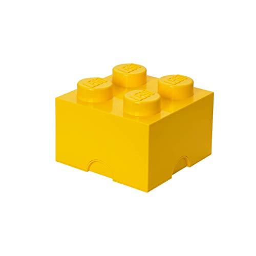 LEGO 4003 Aufbewahrungsstein, 4 Noppen, Stapelbare Aufbewahrungsbox, 5,7 l, gelb