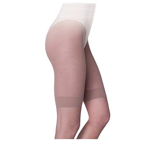 Ergora 3 Stück Damen Kurzstrumpfhose 30 Den antibakteriell Perle Gr. 42/44 Strumpf-Panty - Panty Strumpf