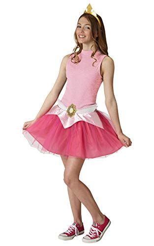 Aurora Damen Kostüm - Rubie's Aurora Tutu Set Damen Teens Abendkleid Disney Princess Kostüm Zubehör-Kit (Small UK 8 -10)
