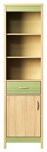 Regal Bücherregal CODI (Kirsche Cornvall / Rainbow Green)