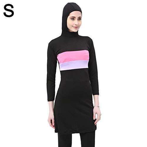 Easy-topbuy Einteiliger Muslimischer Badeanzug Konservativer Badeanzug Bademode Burkini Frauen von Hijab Swimwear Islamischer Beste Liebe
