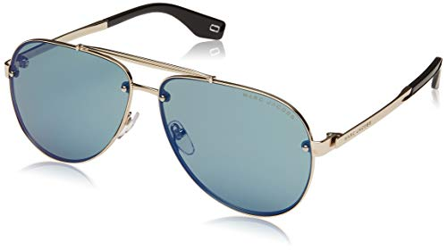 Marc Jacobs Sonnenbrillen (MARC-317-S 3YGHZ) gold - brau-grün mit blau verspiegelt effekt