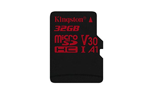 Kingston MicroSD Canvas React SDCR 32GBSP klasse 10, ohne SD-Adapter, Ideal für Serienaufnahmen und 4K Video