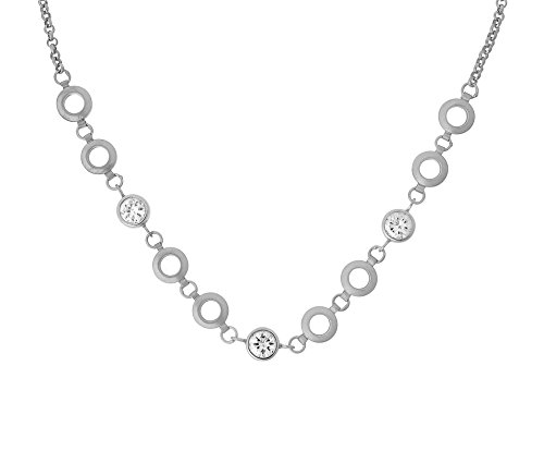 Orphelia Damen-Collier 925 Silber rhodiniert Zirkonia weiß Rundschliff 45 cm - ZK-2793