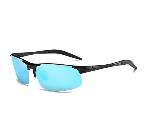 NIUSION Polarisierte Sport UV Schutz Herren Sonnenbrille für Skifahren Golf Laufen Radfahren Superlight Frame Design für Herren und Damen,Black/Blue