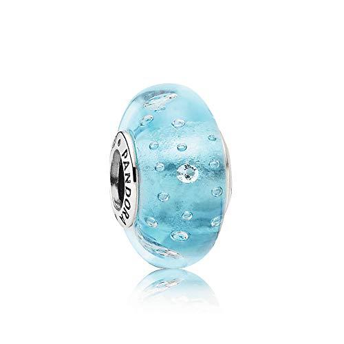 Pandora 791618CZ Blau sprudelnder Murano-Glas, Charm